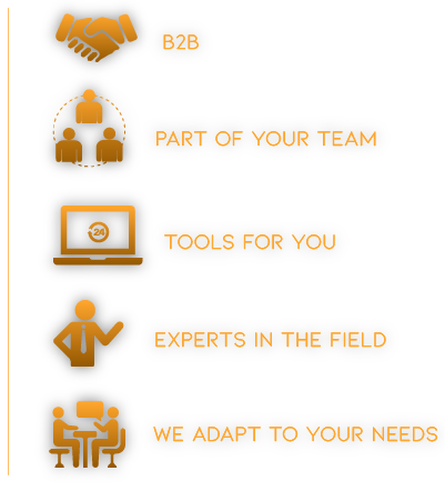 Part of team tools for you experts in the field B2B