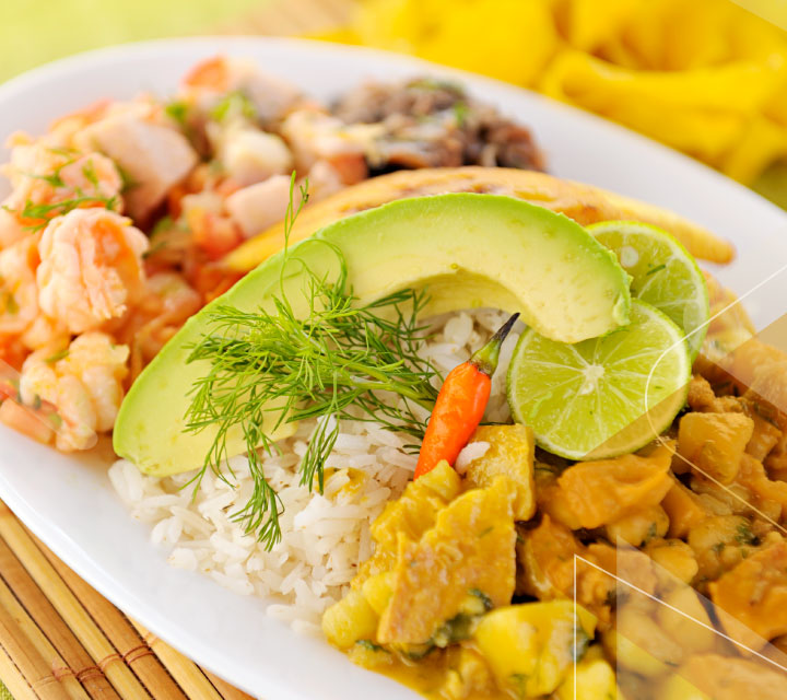 Enjoy delicious equadorian food