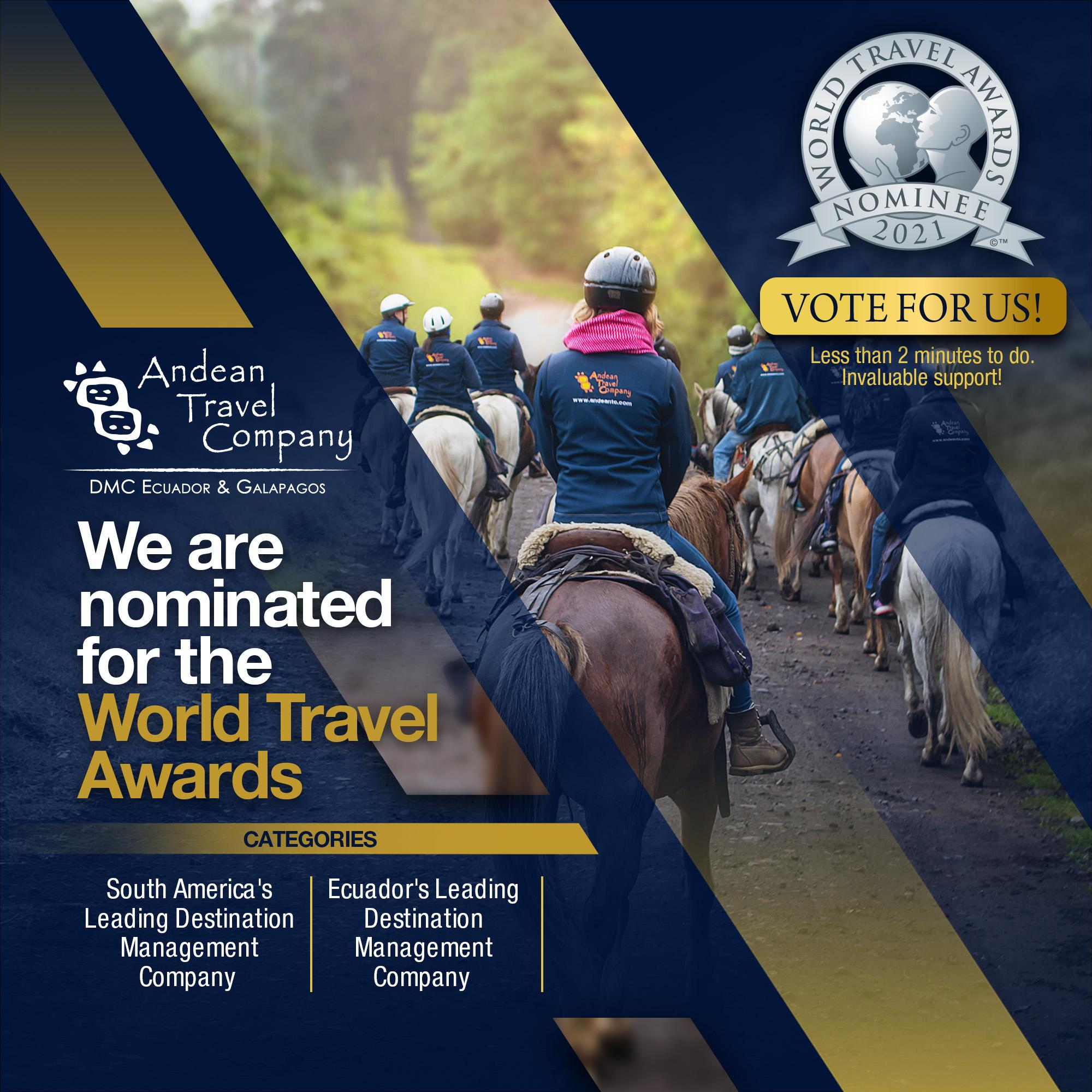 WORLD TRAVEL AWARDS 2021 Ecuador AndeanTravel Company LGBT
