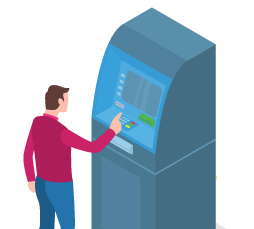 ATMs at their disposal at the airport in Baltra and San Cristobal